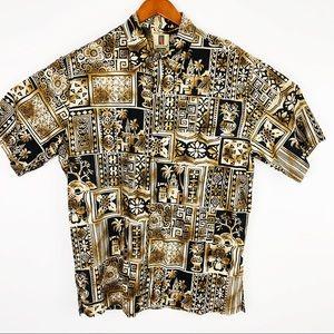 Tropical Short Sleeve Button down Shirt Medium